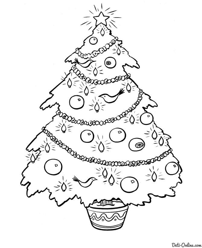Красивые и интересные картинки новогодней елочки для детей 9