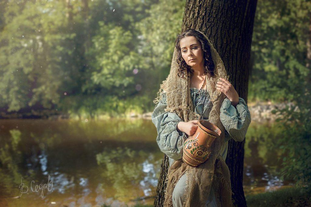 Красивые и интересные картины Девушка с кувшином - сборка 13