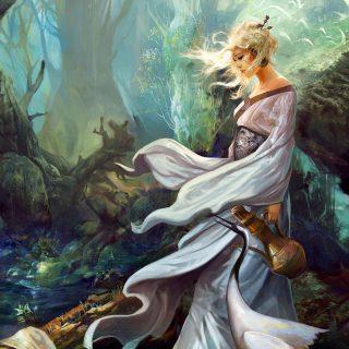 Красивые и интересные картины Девушка с кувшином - сборка 14