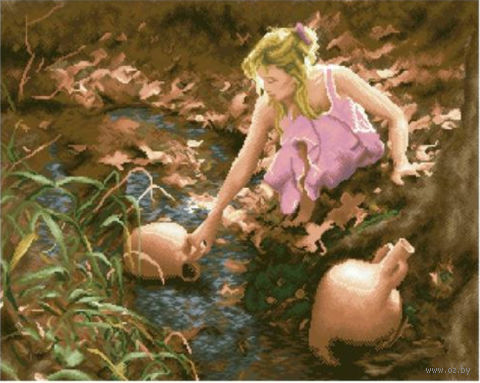 Красивые и интересные картины Девушка с кувшином - сборка 19