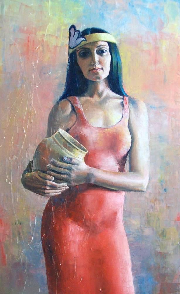 Красивые и интересные картины Девушка с кувшином - сборка 4