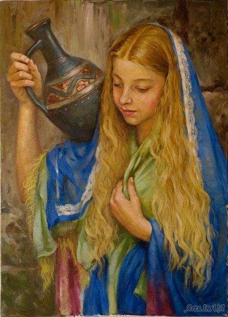 Красивые и интересные картины Девушка с кувшином - сборка 5