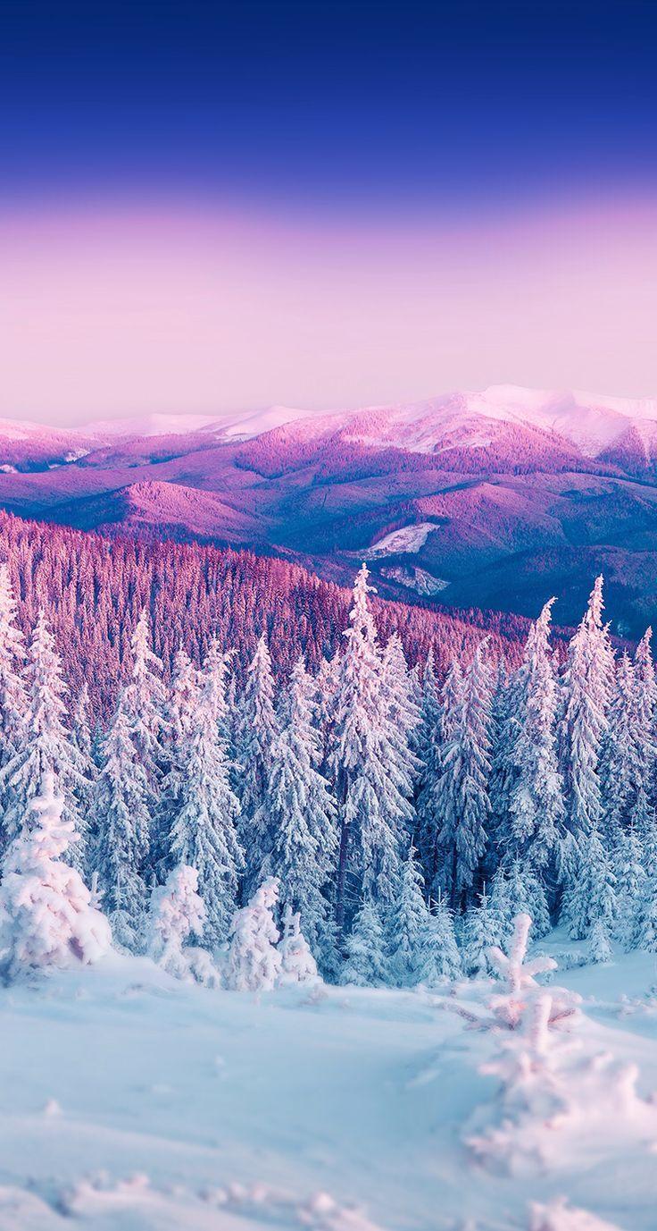 Красивые и красочные картинки зимы на телефон на заставку 12