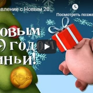 Красивые и прикольные видео поздравления с Новым годом 2019