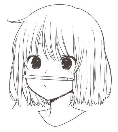 Красивые и прикольные картинки для срисовки аниме - подборка 17
