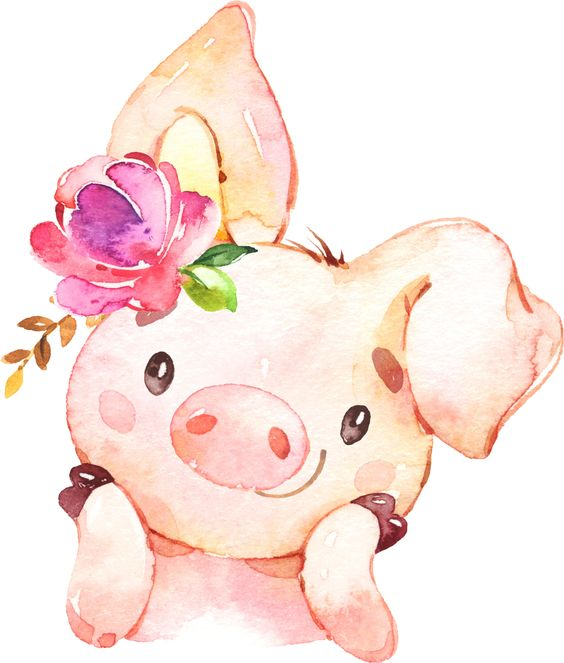 Красивые и прикольные картинки на тему Новогодняя свинья - сборка 1