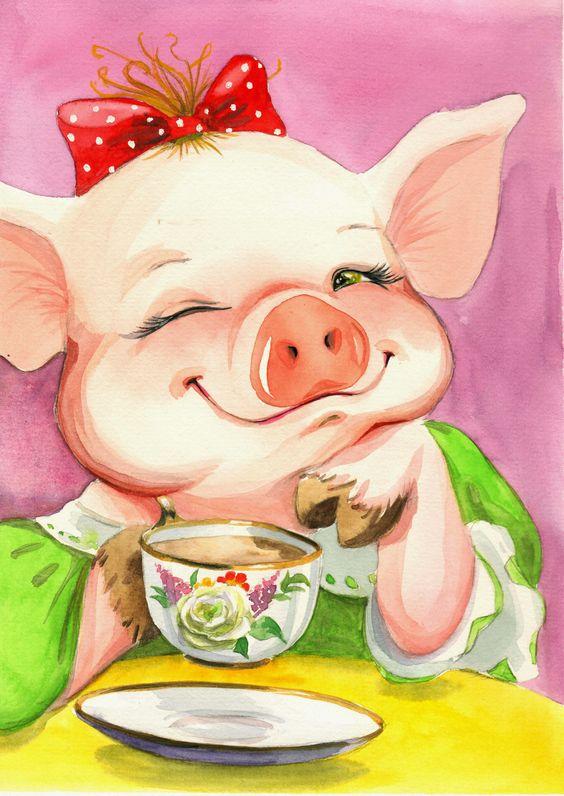 Красивые и прикольные картинки на тему Новогодняя свинья - сборка 12
