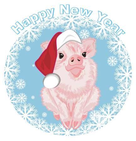 Красивые и прикольные картинки на тему Новогодняя свинья - сборка 16