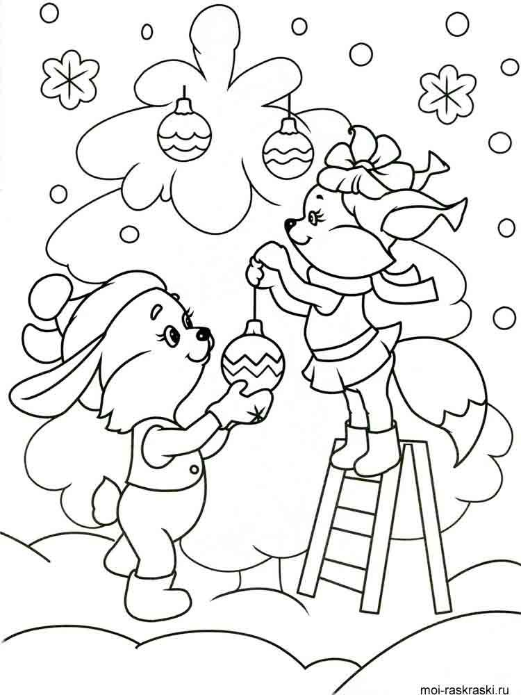 Красивые и прикольные раскраски Новый год 2019 для детей ...