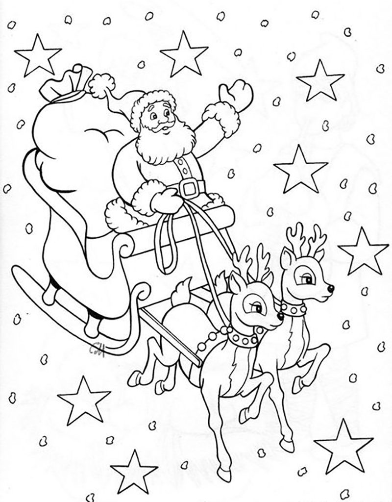 Красивые и прикольные раскраски Новый год 2019 для детей - подборка 12