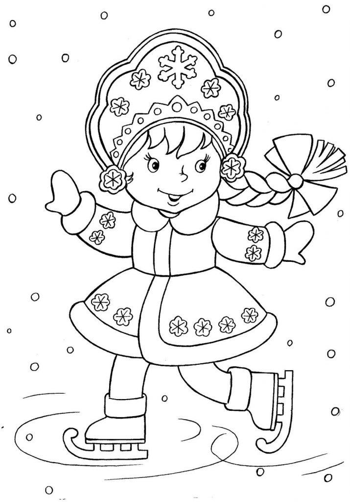 Красивые и прикольные раскраски Новый год 2019 для детей - подборка 16
