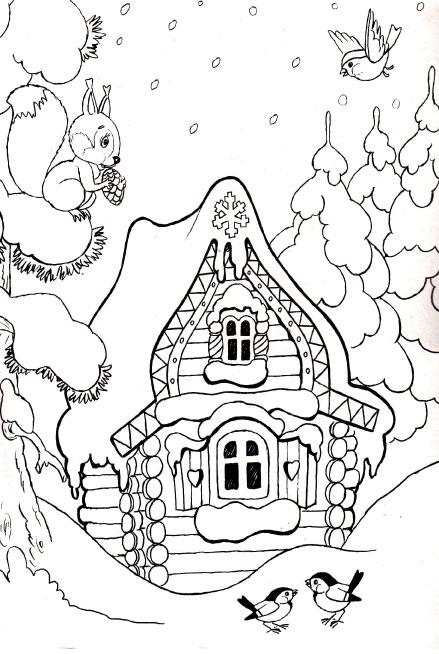 Красивые и прикольные раскраски Новый год 2019 для детей - подборка 17