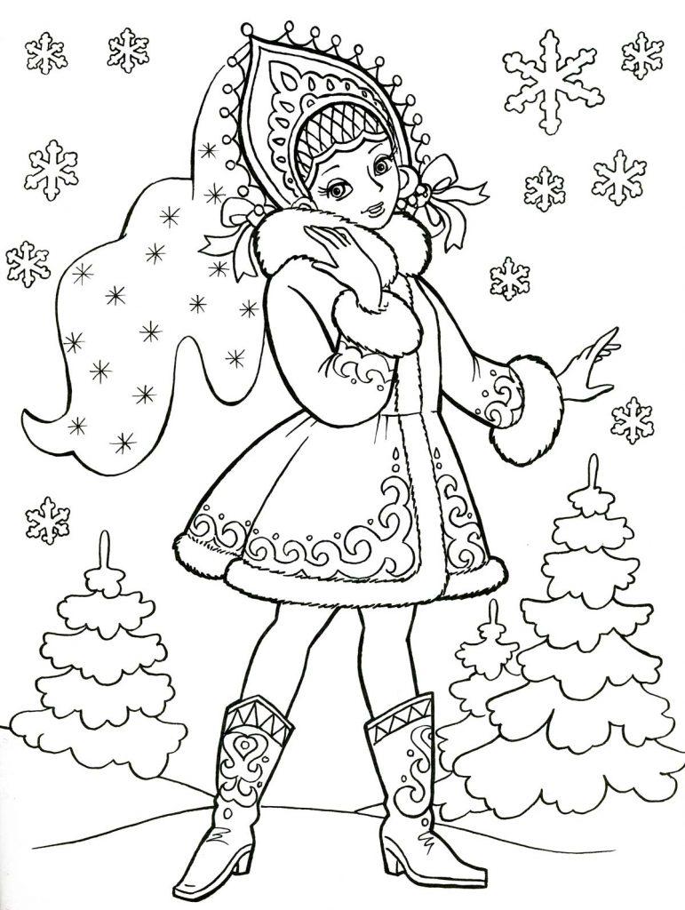 Красивые и прикольные раскраски Новый год 2019 для детей - подборка 3