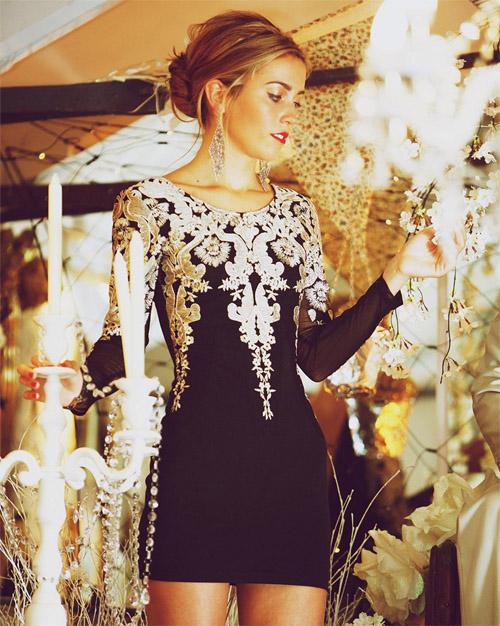 Красивые и удивительные фотографии платьев на Новый год 2019 10