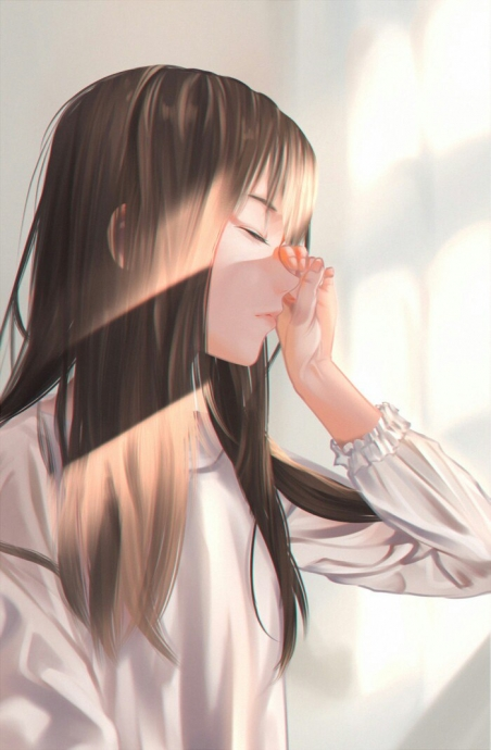 Красивые картинки девушки аниме с коричневыми волосами 20