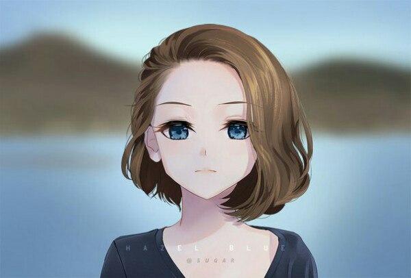 Красивые картинки девушки аниме с коричневыми волосами 25