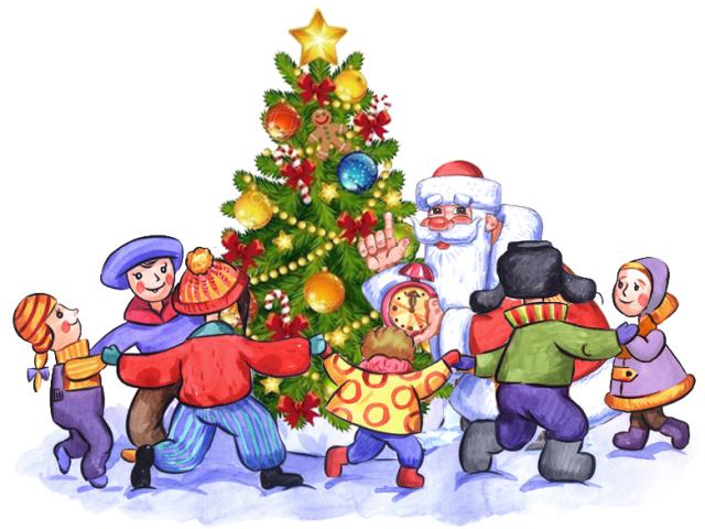 Красивые картинки и рисунки для детского сада на Новый год 1