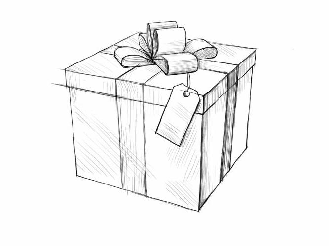 Красивые картинки и рисунки подарков или подарка для срисовки 4