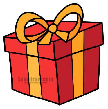 Красивые картинки и рисунки подарков или подарка для срисовки 7