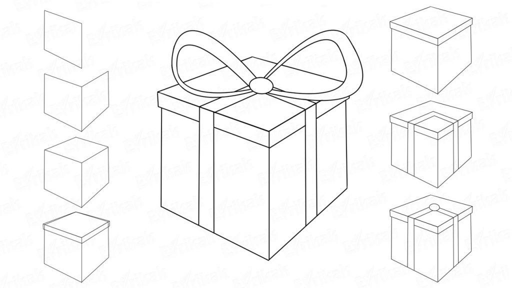 Красивые картинки и рисунки подарков или подарка для срисовки 9