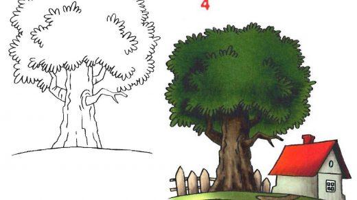 Красивые картинки с деревьями для детей и малышей - подборка 20 фото 24