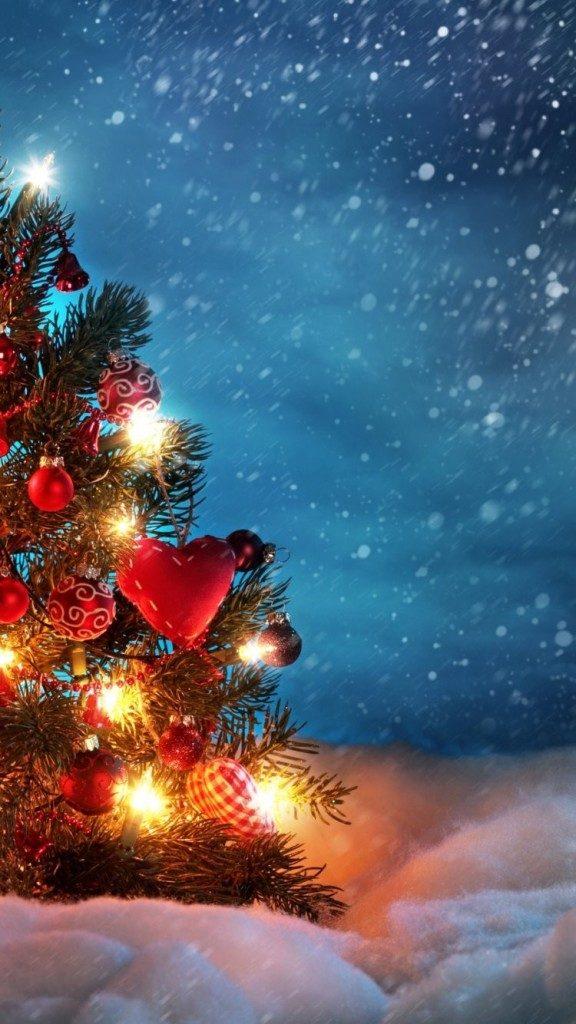 Красивые новогодние и рождественские картинки на телефон 1