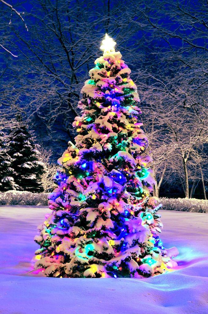 Красивые новогодние и рождественские картинки на телефон 15