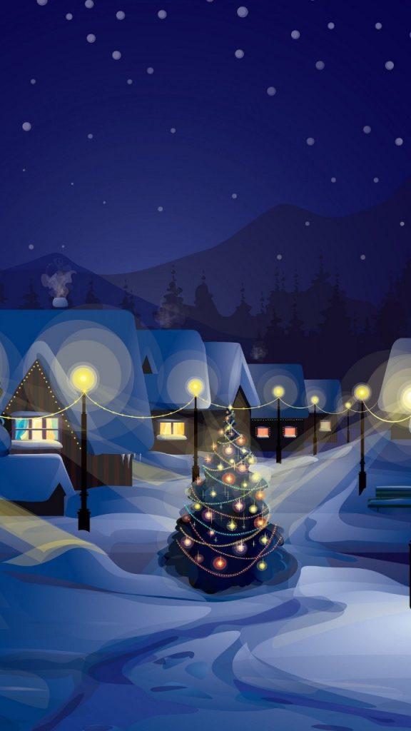 Красивые новогодние и рождественские картинки на телефон 3