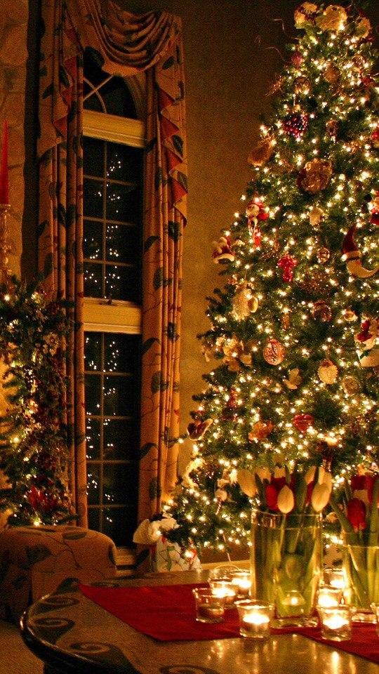 Красивые новогодние и рождественские картинки на телефон 5