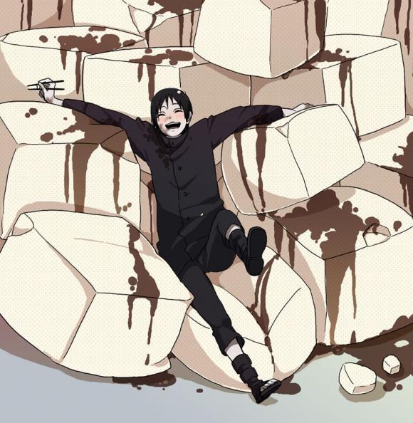 Крутые и классные картинки, арты Сай из Наруто аниме - подборка 15