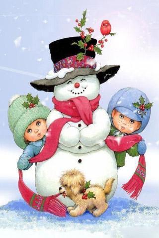 Новогодние картинки для детей и малышей - красивая подборка 5
