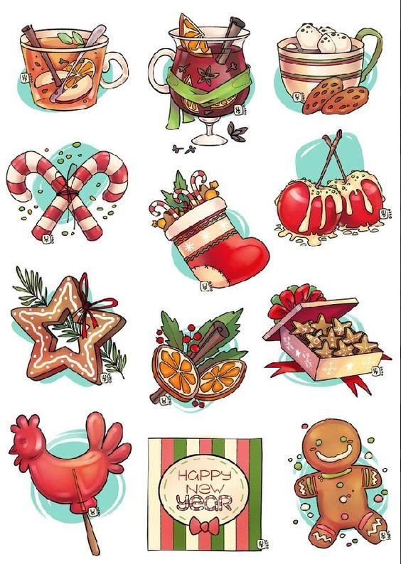 Новый год и Рождество - красивые и интересные векторные картинки 12