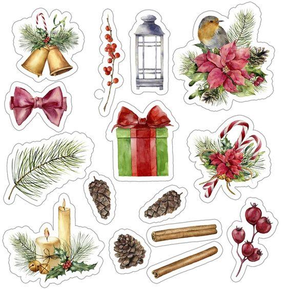 Новый год и Рождество - красивые и интересные векторные картинки 17
