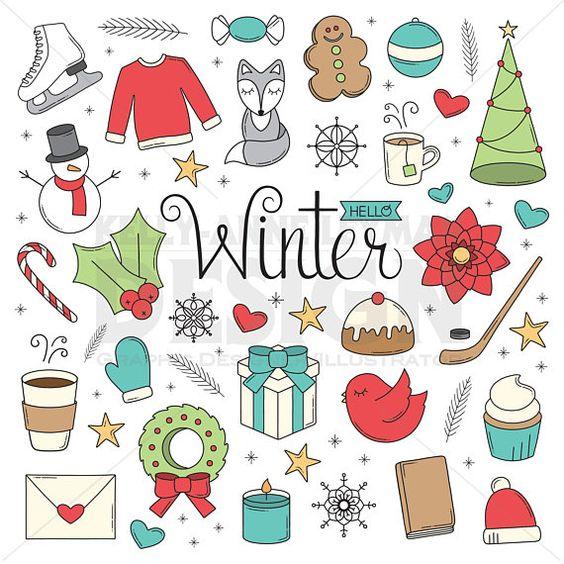 Новый год и Рождество - красивые и интересные векторные картинки 18