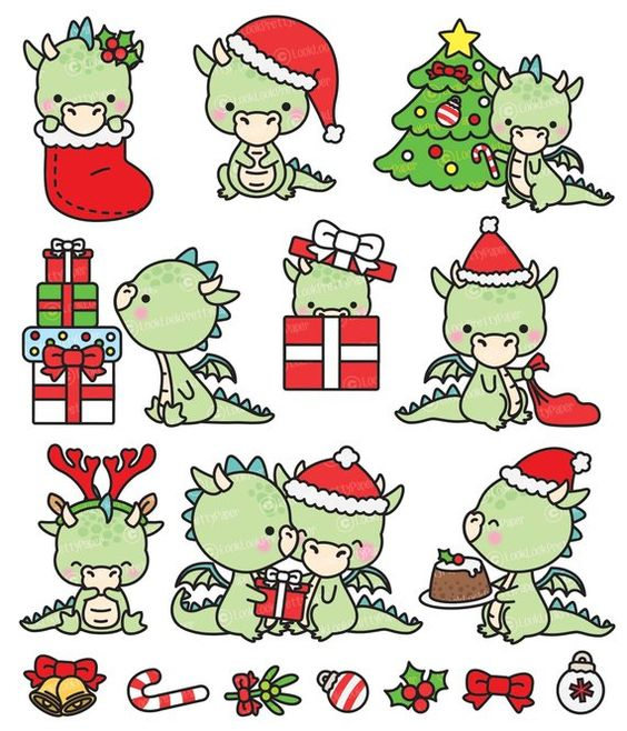 Новый год и Рождество - красивые и интересные векторные картинки 20