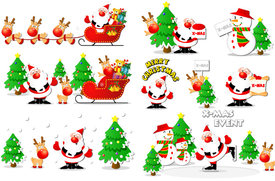 Новый год и Рождество - красивые и интересные векторные картинки 22