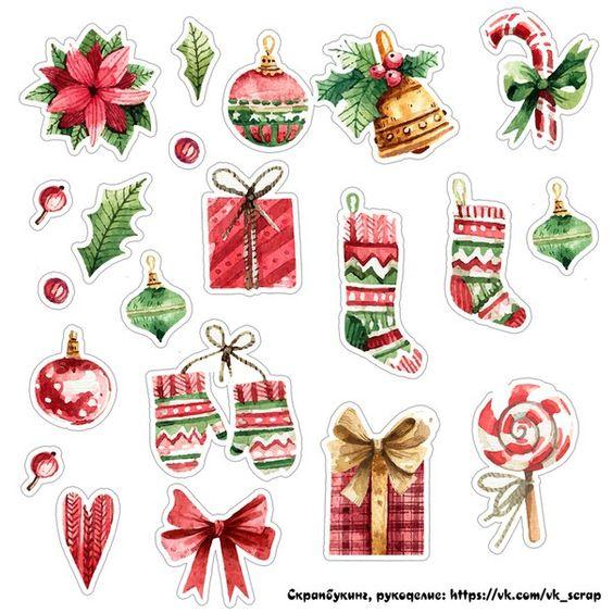 Новый год и Рождество - красивые и интересные векторные картинки 25