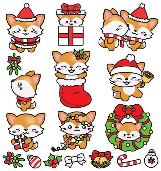 Новый год и Рождество - красивые и интересные векторные картинки 7