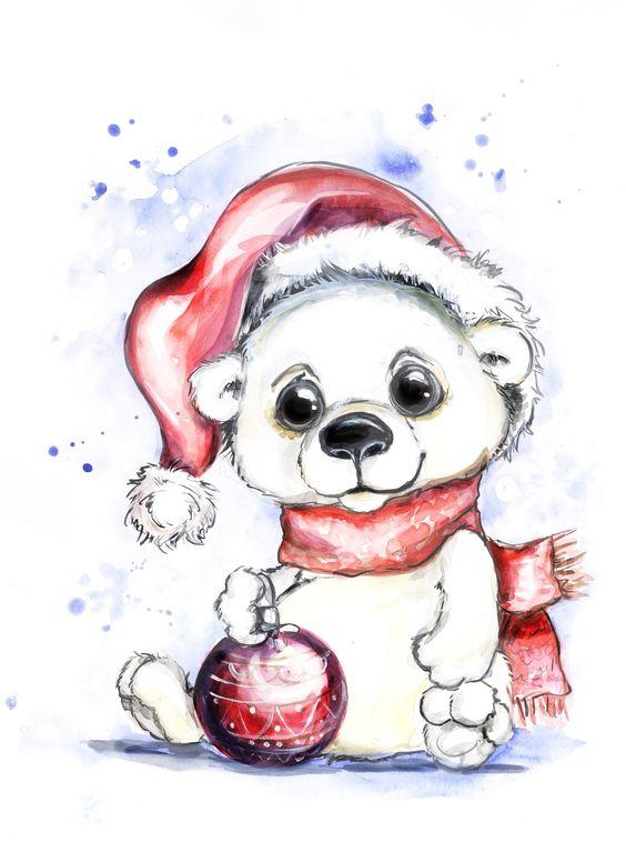 Новый год 2019 картинки и рисунки для срисовки - милая сборка 2