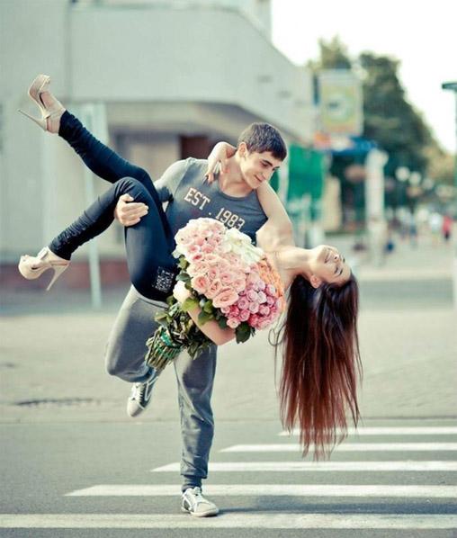 Парень держит девушку на руках - красивые фото и картинки 4