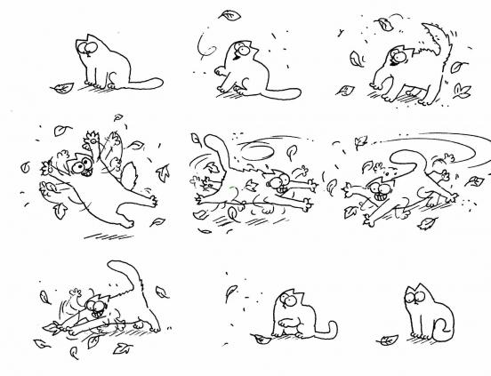 Прикольные и классные рисунки, картинки Саймон Кот - подборка 5