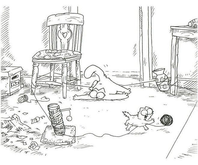 Прикольные и классные рисунки, картинки Саймон Кот - подборка 7