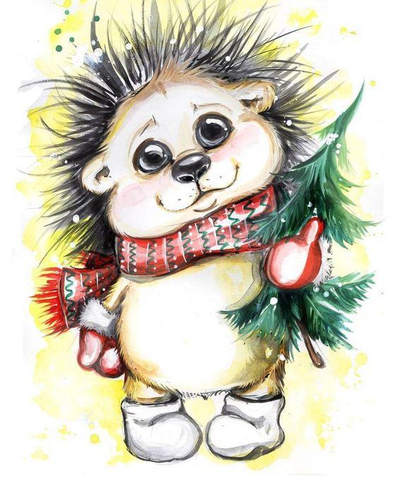 Самые красивые и прикольные новогодние рисунки для срисовки 5
