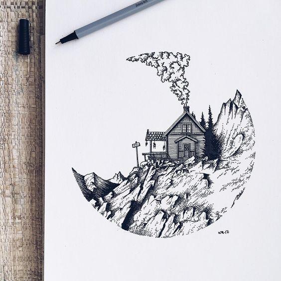 Самые красивые картинки для срисовки в скетчбук - подборка 11