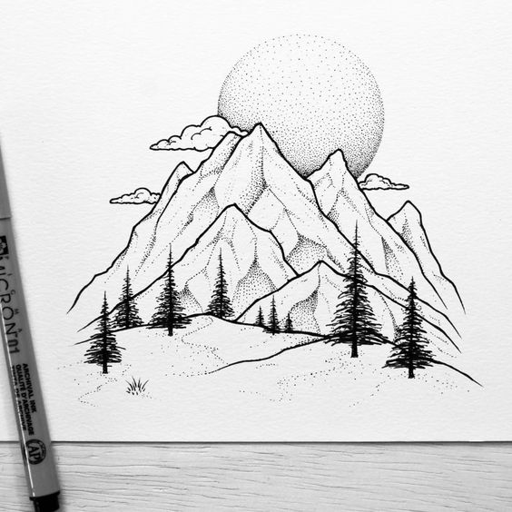 Самые красивые картинки для срисовки в скетчбук - подборка 15