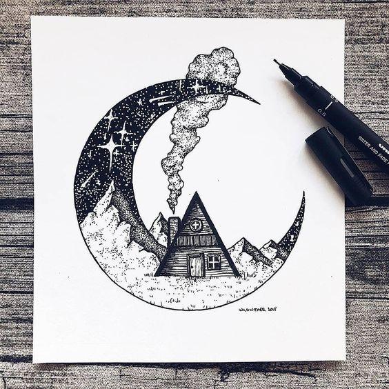 Самые красивые картинки для срисовки в скетчбук - подборка 24