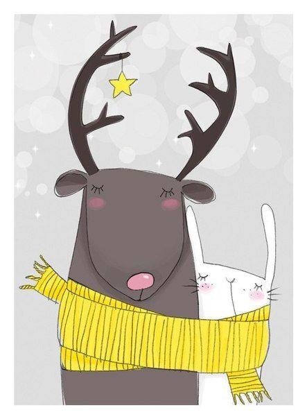 Самые красивые рисунки на Новый год и зиму - подборка 1