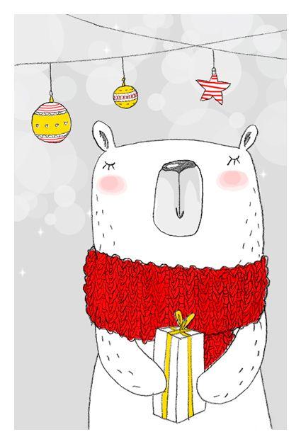 Самые красивые рисунки на Новый год и зиму - подборка 15