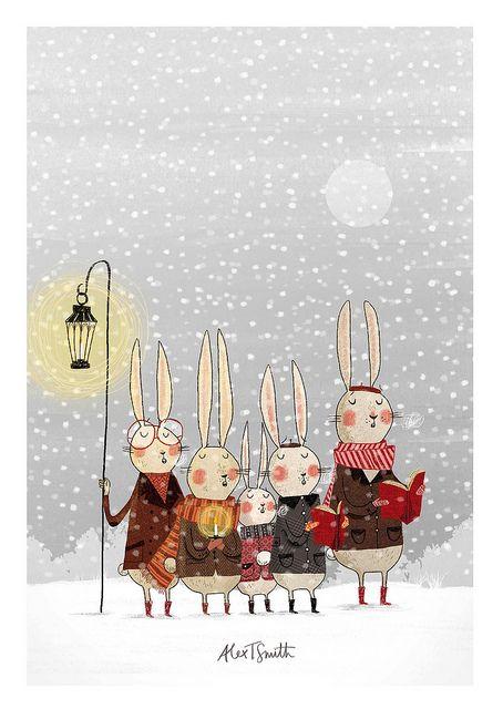 Самые красивые рисунки на Новый год и зиму - подборка 18