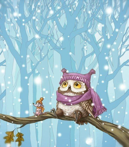 Самые красивые рисунки на Новый год и зиму - подборка 22